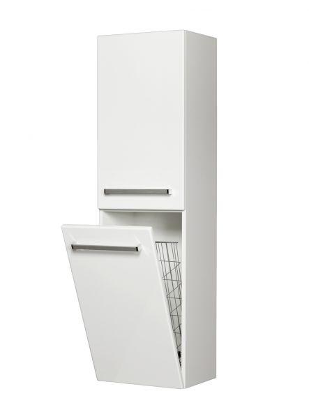 Bad-Hochschrank mit Türe und Wäschekippe, HS-G-4047-WS