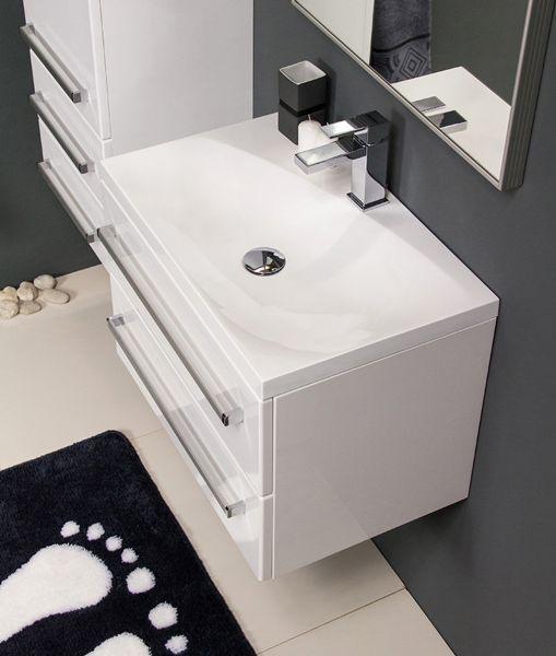 Quentis Waschplatz Melinda, Breite 60 cm weiß glänzend, MA6247