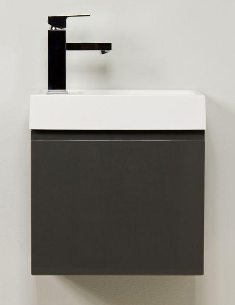 Waschplatz Faros 40, Front und Korpus anthrazit glänzend, FZ4056C