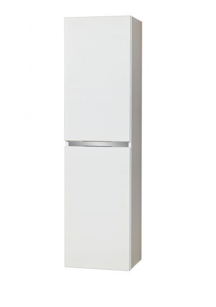 Hochschrank Badmöbelserie Vado, weiß glänzend, 1 Türe, 1 Schublade, VA5047