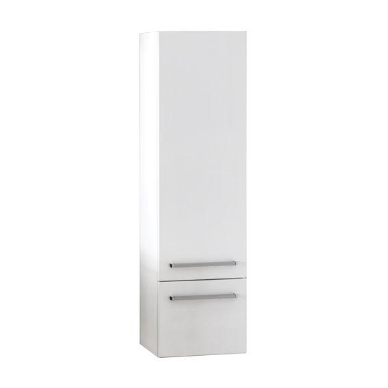 Bad-Hochschrank weiß glänzend, HS-G-4047-1S
