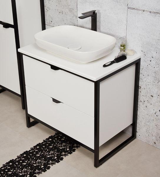 Badmöbel Cosmo, Breite 80 cm, Aufsatzbecken weiß, CO8047