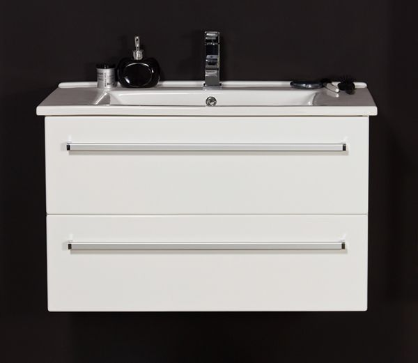 Waschplatz Serena, Breite 85 cm, weiß glänzend, SA85247