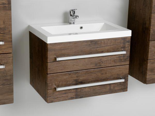 Waschplatz Genua Breite 60 cm, Holzdekor antik, GE6250