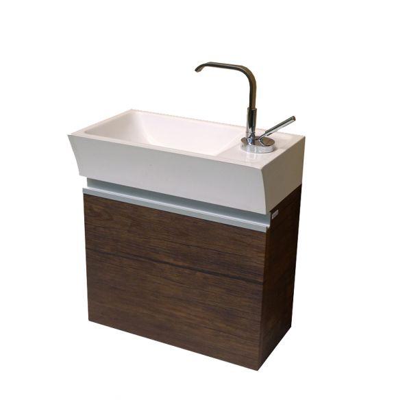 Gäste-WC Faros, Breite 40 cm, Holzdekor antik (FZ4050)
