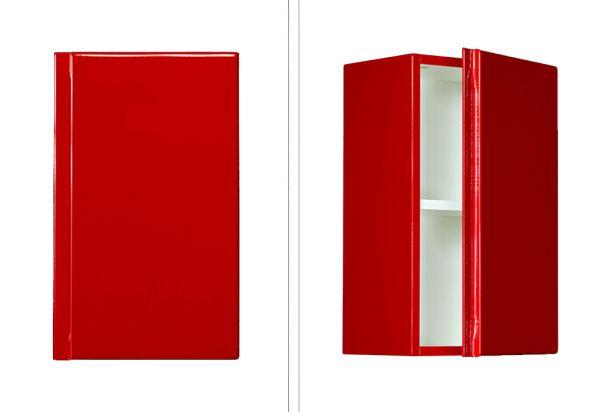 Faros Hängeschrank rot glänzend, Breite 30 cm, FZ3022