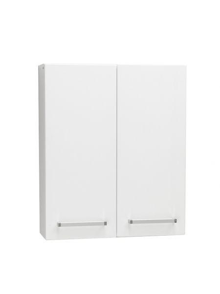 Bad-Hängeschrank weiß glänzend, Breite 60 cm, 2 Türen, HS-K-6047