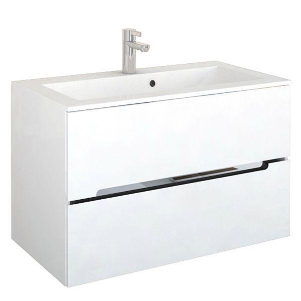 Waschplatzset Sivas, Breite 90 cm, weiß glänzend lackiert, SL1090