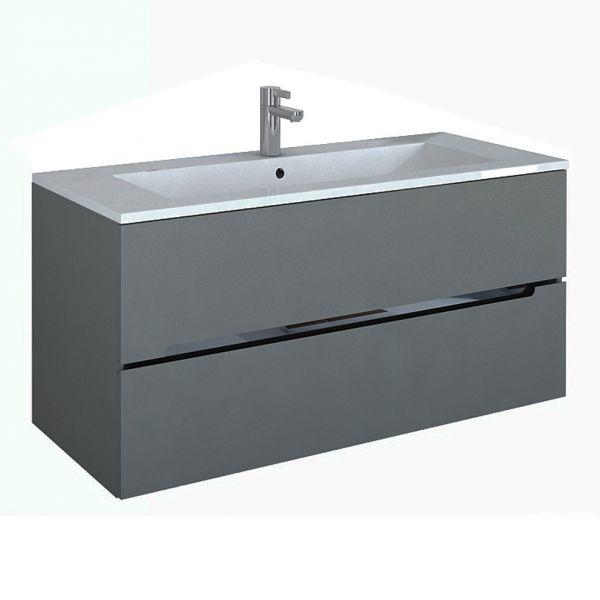 Waschplatz sivas, Breite 120 cm, grau matt