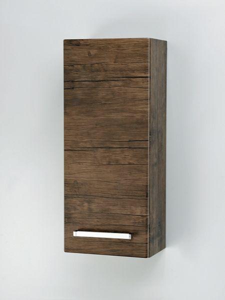Hängeschrank Breite 30 cm, 1 Türe, Holzdekor antik