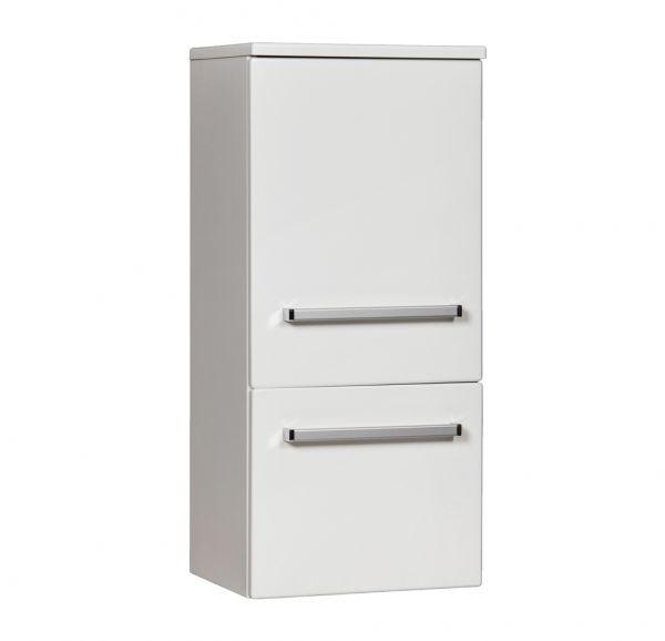 Midischrank weiß glänzend, eine Türe und eine Schublade, HS-M-4047-1S