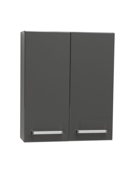 Genua Hängeschrank anthrazit glänzend, Breite 60 cm, 2 Türen, GE6056