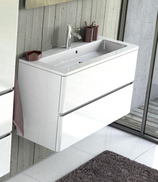 Waschplatz Amira, Breite 100 cm, weiß glänzend, AM1010