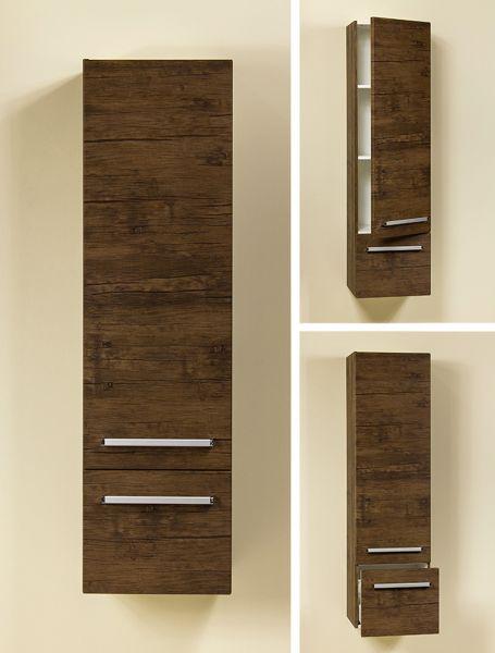 Hängeschrank aus der Badmöbelserie Genua, Ausführung Holzdekor antik, GE4150