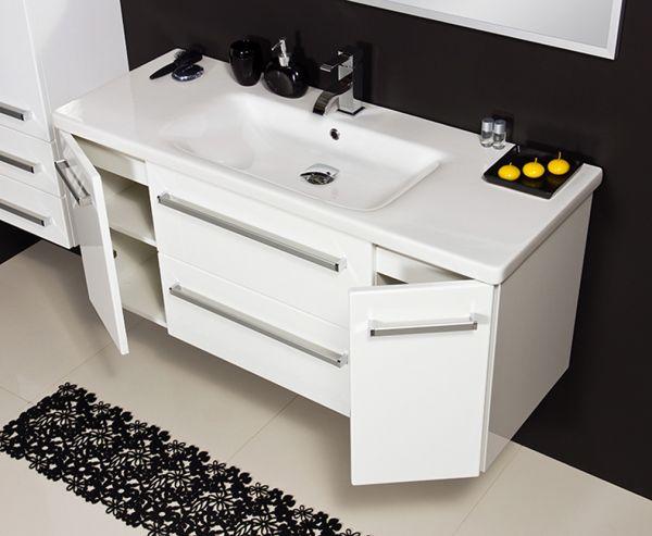 Waschplatz Serena, Breite 120 cm, weiß glänzend, SA12247