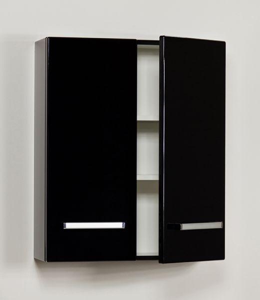 Badschrank, Breite 60 cm, schwarz, HS-K-6048
