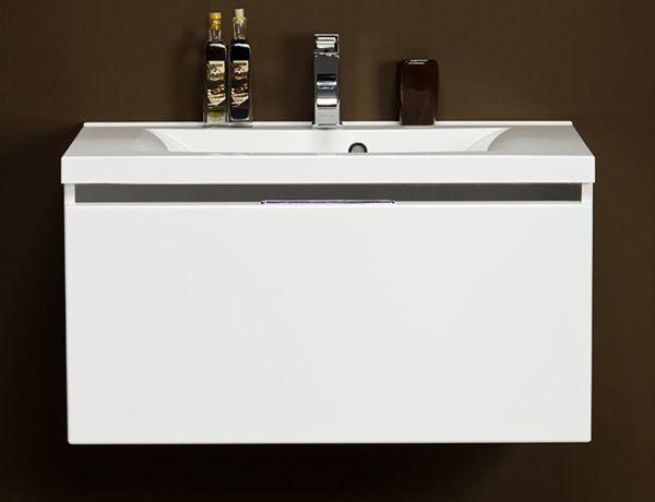 Waschplatz Vado 80, weiß glänzend, VA8047