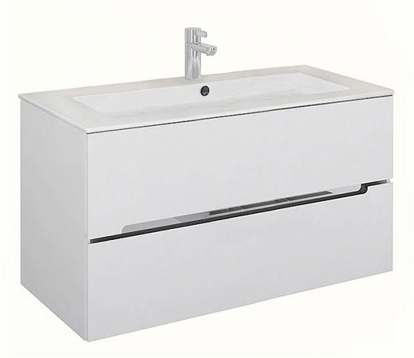 Badmöbel Sivas, Breite 105 cm, weiß glänzend