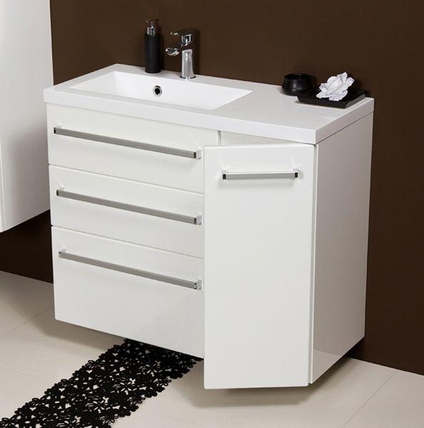 Waschplatz Genua Breite 90 cm, weiß glänzend, GE9347