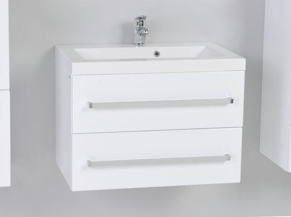Quentis Waschplatz Genua Breite 60 cm weiß glänzend