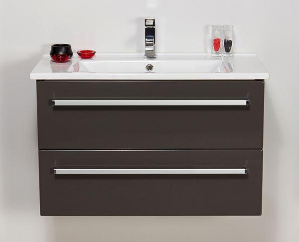 Waschplatz Serena, Breite 85 cm, anthrazit glänzend, SA85256