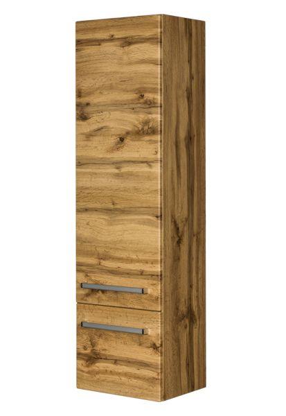 Hochschrank aus der Badmöbelserie Serena, Holzdekor Eiche Natur, SA5062