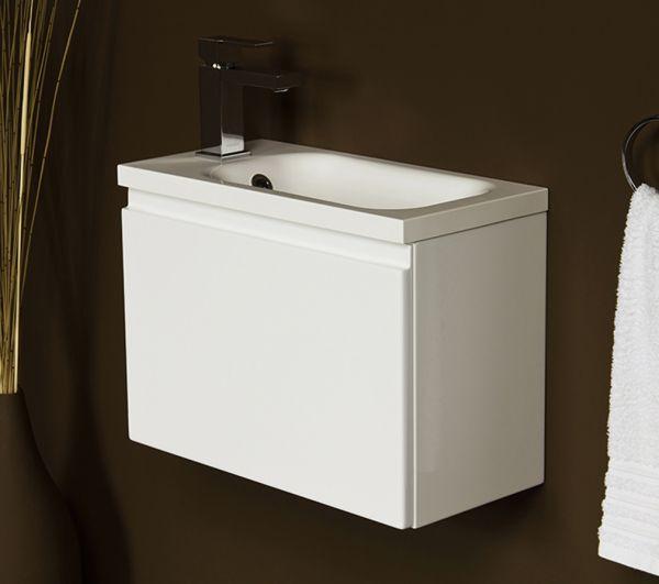 Badmöbel Faros 50, weiß glänzend, FZ5010