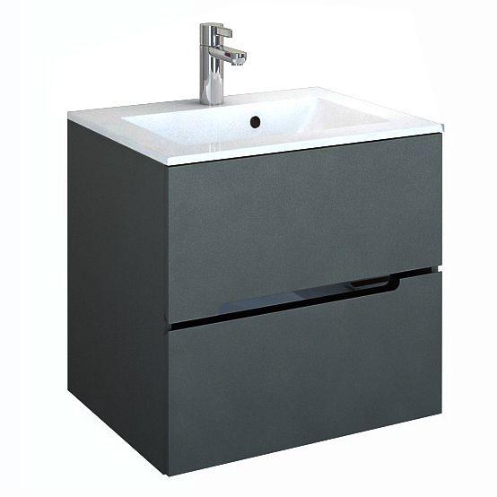 Waschplatzset Sivas 60, 2-teilig, grau matt