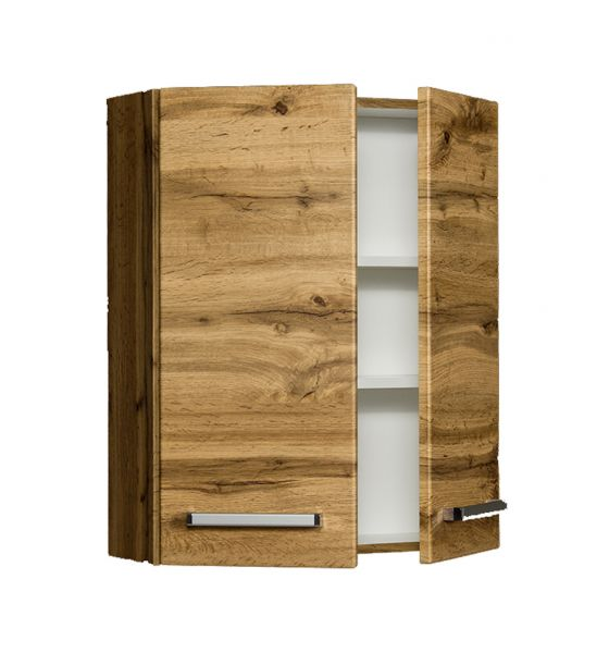 Genua Hängeschrank, Breite 60 cm, 2 Türen, Eiche Natur, GE6062