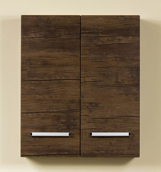 Serena Hängeschrank mit 2 Türen, Breite 60 cm, Holzdekor antik, SA4050
