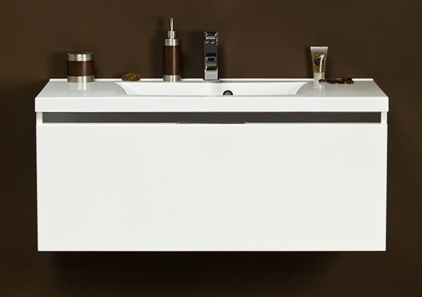 Waschplatz Vado 100, weiß glänzend, VA1047