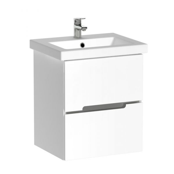 Waschplatzset Sivas 50, Keramikwaschbecken und Unterschrank