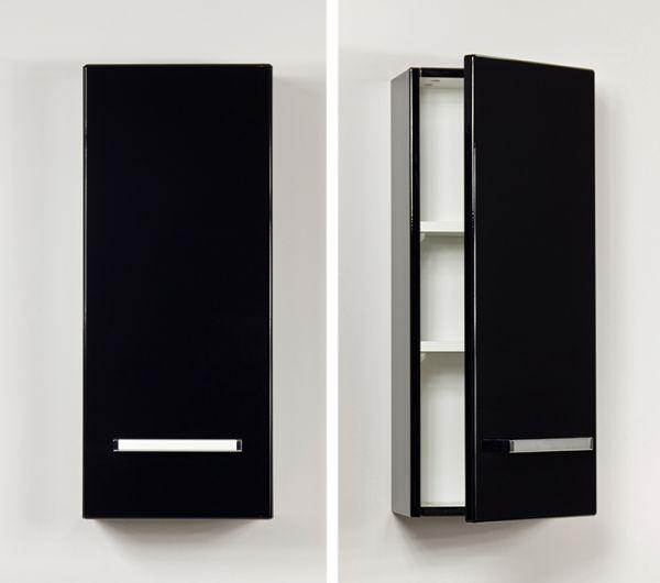 Bad-Hängeschrank, Breite 30 cm, schwarz, HS-K-3048