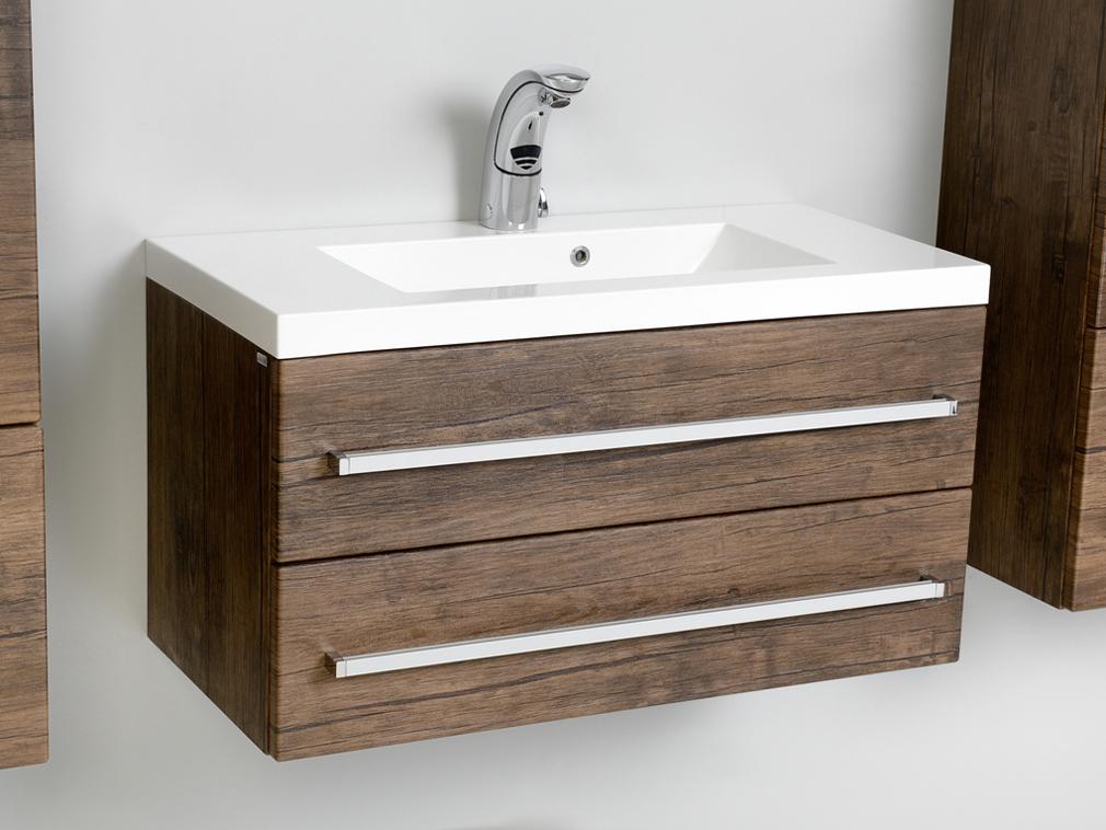 quentis genua waschplatz breite 80 cm holzdekor antik. Black Bedroom Furniture Sets. Home Design Ideas