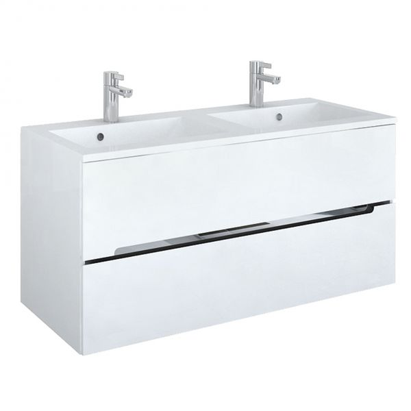 Sivas Doppelwaschplatz, Breite 120 cm, weiß, SL1012D