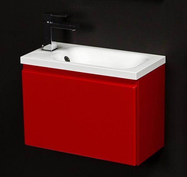 Badmöbel Faros 50, rot glänzend, FZ5022