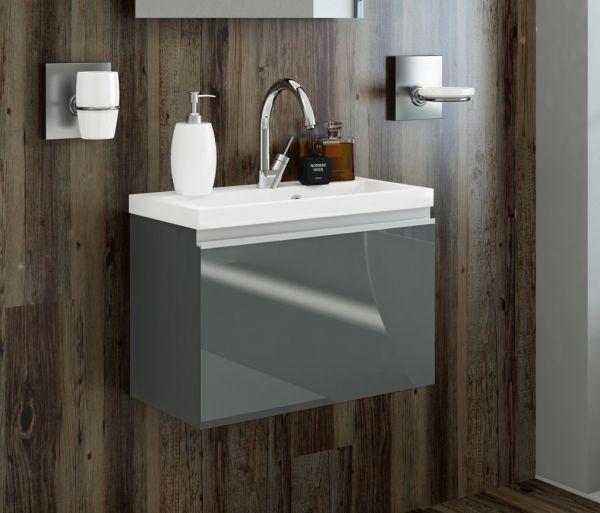Waschplatz Faros, Breite 60 cm, Ausführung graphit glänzend (FZ 6019)